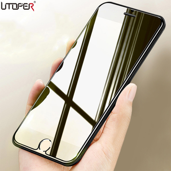 UTOPER 2 ADET 2.5D Premium Temperli Cam iphone 7 Cam Ekran Koruyucu iPhone X Cam iphone 8 6 için 6 s Artı 5 s SE Film